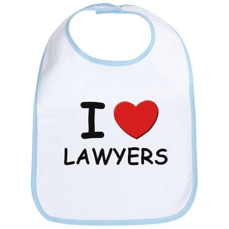 I love lawyers Bib
