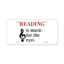 Music For The Eyes Aluminum License Plate