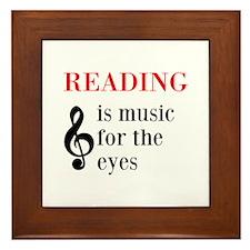 Music For The Eyes Framed Tile