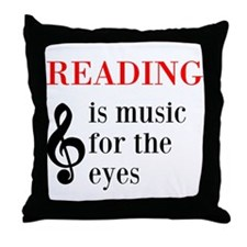 Music For The Eyes Throw Pillow