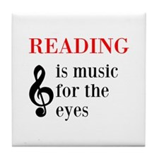 Music For The Eyes Tile Coaster