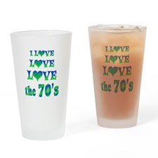Love Love 70s Drinking Glass