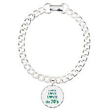 Love Love 70s Charm Bracelet, One Charm
