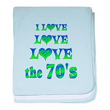 Love Love 70s baby blanket