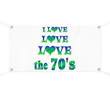 Love Love 70s Banner