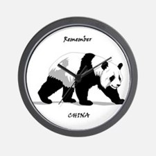 Remember China Panda Wall Clock