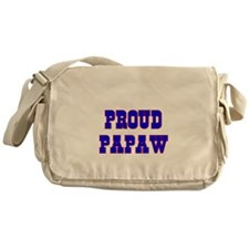 Proud Papaw Messenger Bag