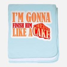 Finish Him Like A Cheesecake baby blanket