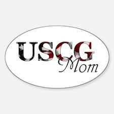 USCG Mom Sticker (Oval)