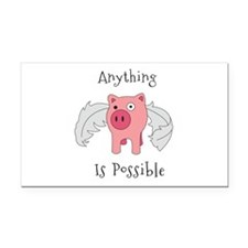 Anything Is Possible Rectangle Car Magnet
