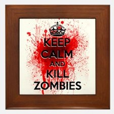 KEEP CALM AND KILL ZOMBIES Framed Tile