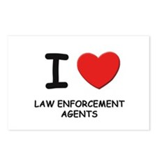 I love law enforcement agents Postcards (Package o