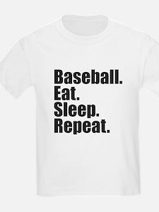 Baseball Eat Sleep Repeat T-Shirt