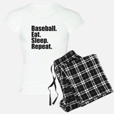 Baseball Eat Sleep Repeat Pajamas
