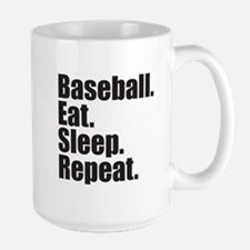 Baseball Eat Sleep Repeat Mug