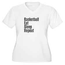 basketball Eat Sleep Repeat Plus Size T-Shirt