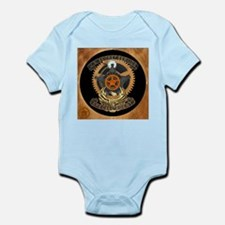 Steampunk Secret Service Badge Infant Bodysuit