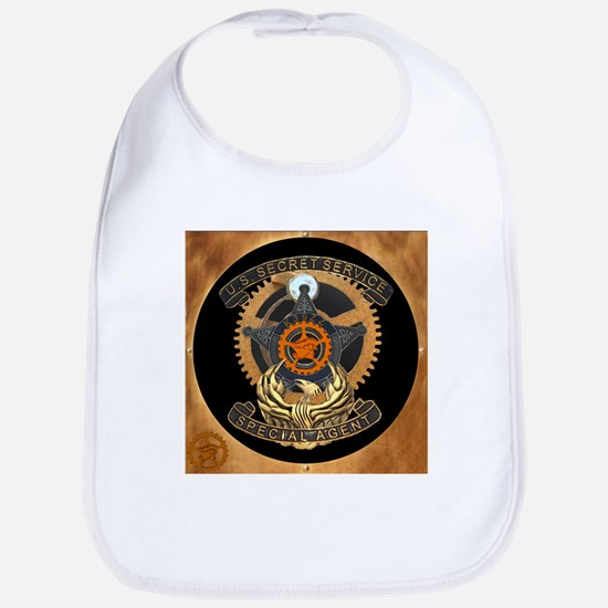 Steampunk Secret Service Badge Bib
