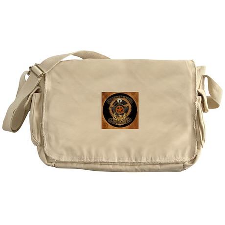 Steampunk Secret Service Badge Messenger Bag