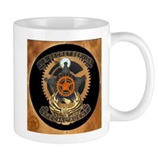 Steampunk Secret Service Badge Mug
