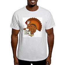 Turkey Talk Oink, Oink! Ash Grey T-Shirt