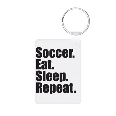 Soccer Eat Sleep Repeat Keychains