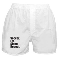 Soccer Eat Sleep Repeat Boxer Shorts