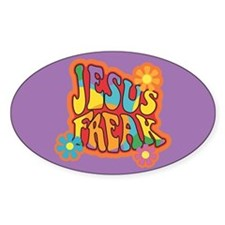Jesus Freak Oval Decal