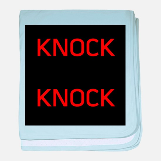 Knock Knock baby blanket
