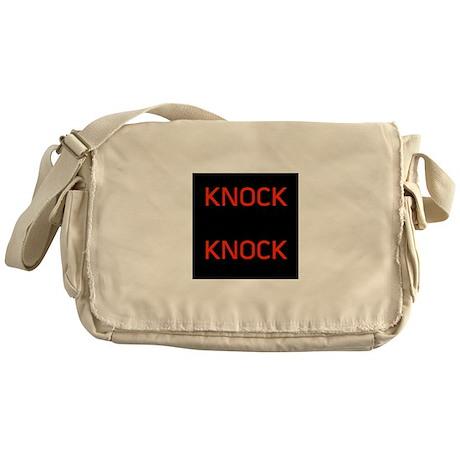 Knock Knock Messenger Bag