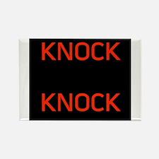 Knock Knock Rectangle Magnet