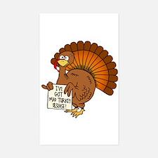 Turkey Talk I've got mad turkey disease! Decal