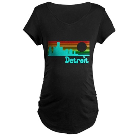 Retro Vintage Detroit Maternity T-Shirt