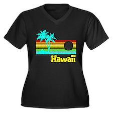 Retro Vintage Hawaii Plus Size T-Shirt