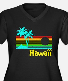 Retro Vintage Hawaii Plus Size T-Shirt