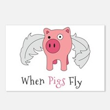 When Pigs Fly Postcards (Package of 8)