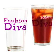 Fashion Diva Drinking Glass