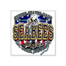 US Navy Seabees Shield Sticker