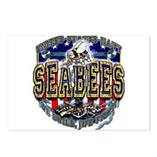 US Navy Seabees Shield Postcards (Package of 8)