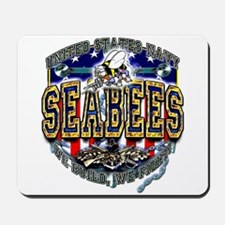 US Navy Seabees Shield Mousepad
