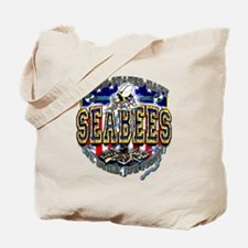 US Navy Seabees Shield Tote Bag