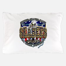 US Navy Seabees Shield Pillow Case