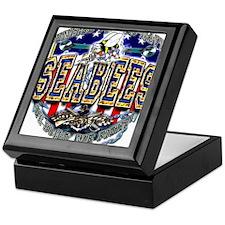 US Navy Seabees Shield Keepsake Box