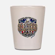 US Navy Seabees Shield Shot Glass