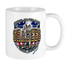 US Navy Seabees Shield Mug