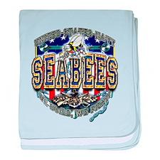 US Navy Seabees Shield baby blanket