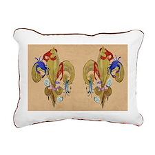 Cajun Fleur de lis Rectangular Canvas Pillow