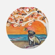 Pug ~the beauty of orange Ornament (Round)
