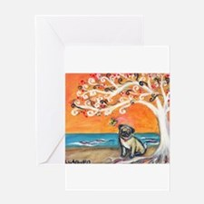 Pug ~the beauty of orange Greeting Card