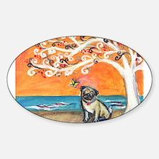 Pug ~the beauty of orange Decal